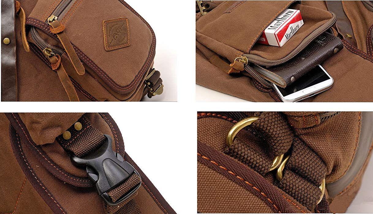 b3338067deec Amazon.com | Aibag Chest Pack Sling Bag Canvas Crossbody Bag for ...