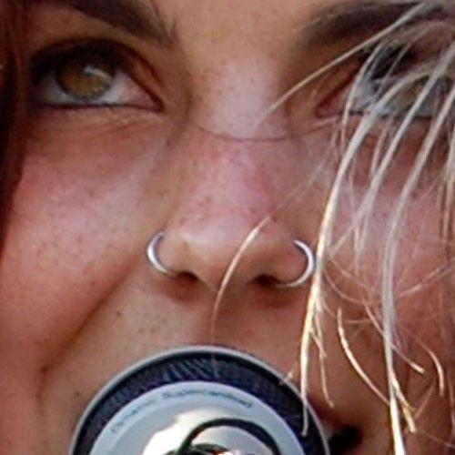 sierra-kusterbeck-nose-piercing-double-rings #doublenosepiercing