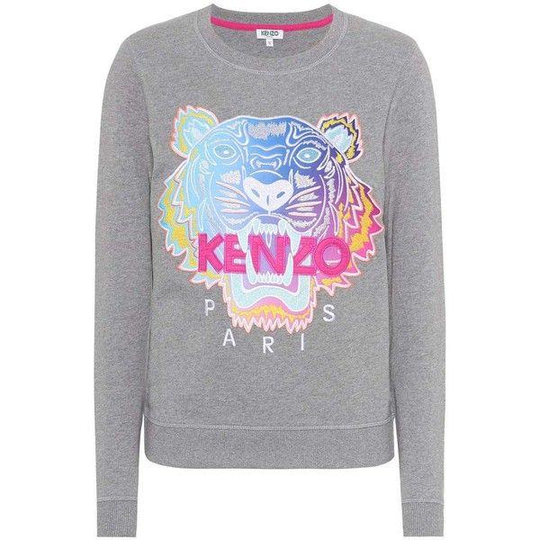 9c3e0977 Kenzo Embroidered Cotton Sweatshirt ($240) ❤ liked on ...