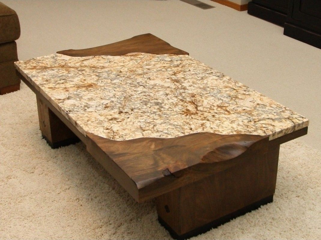 White Granite Coffee Table