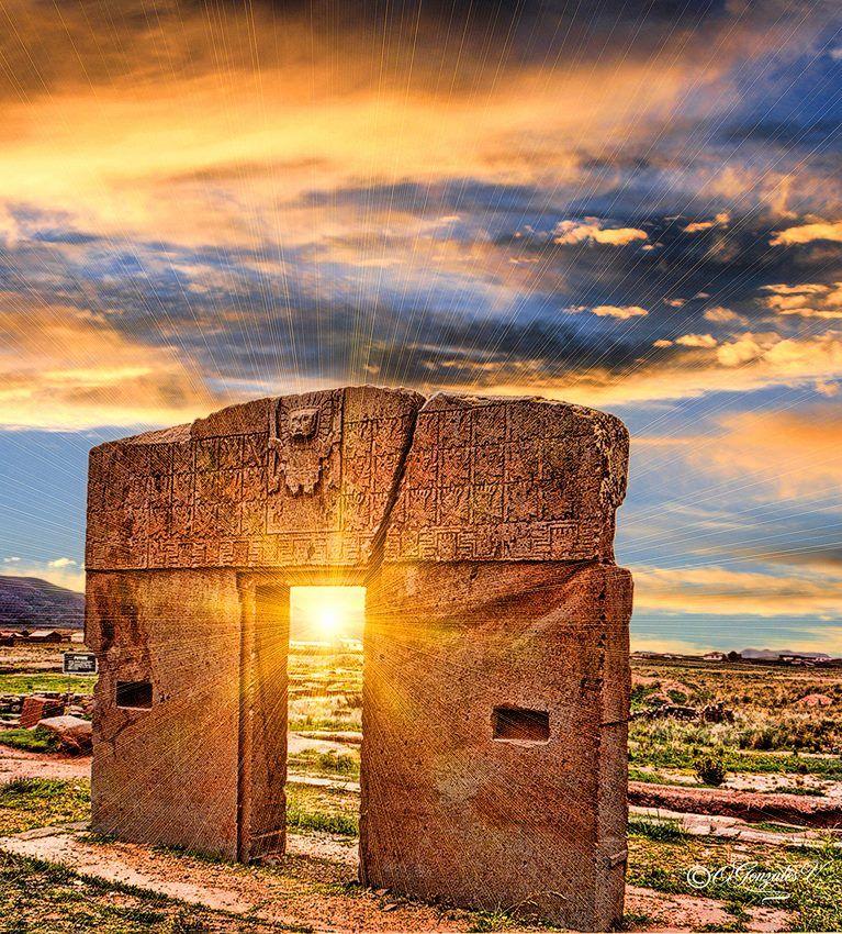 Tiahuanaco puerta del sol hermosas vistas pinterest for Puerta del sol hoy