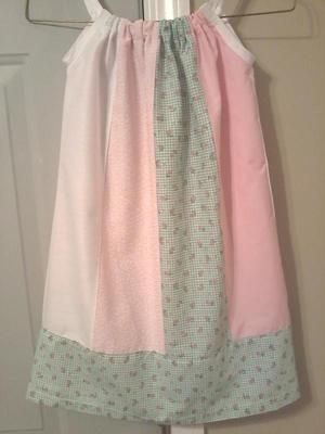 Pink Flowered Pillowcase Dress