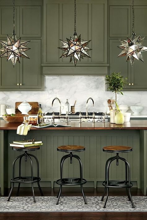 Color On Trend Deep Mossy Olive Green Green Kitchen Cabinets Painting Kitchen Cabinets Kitchen Cabinet Colors