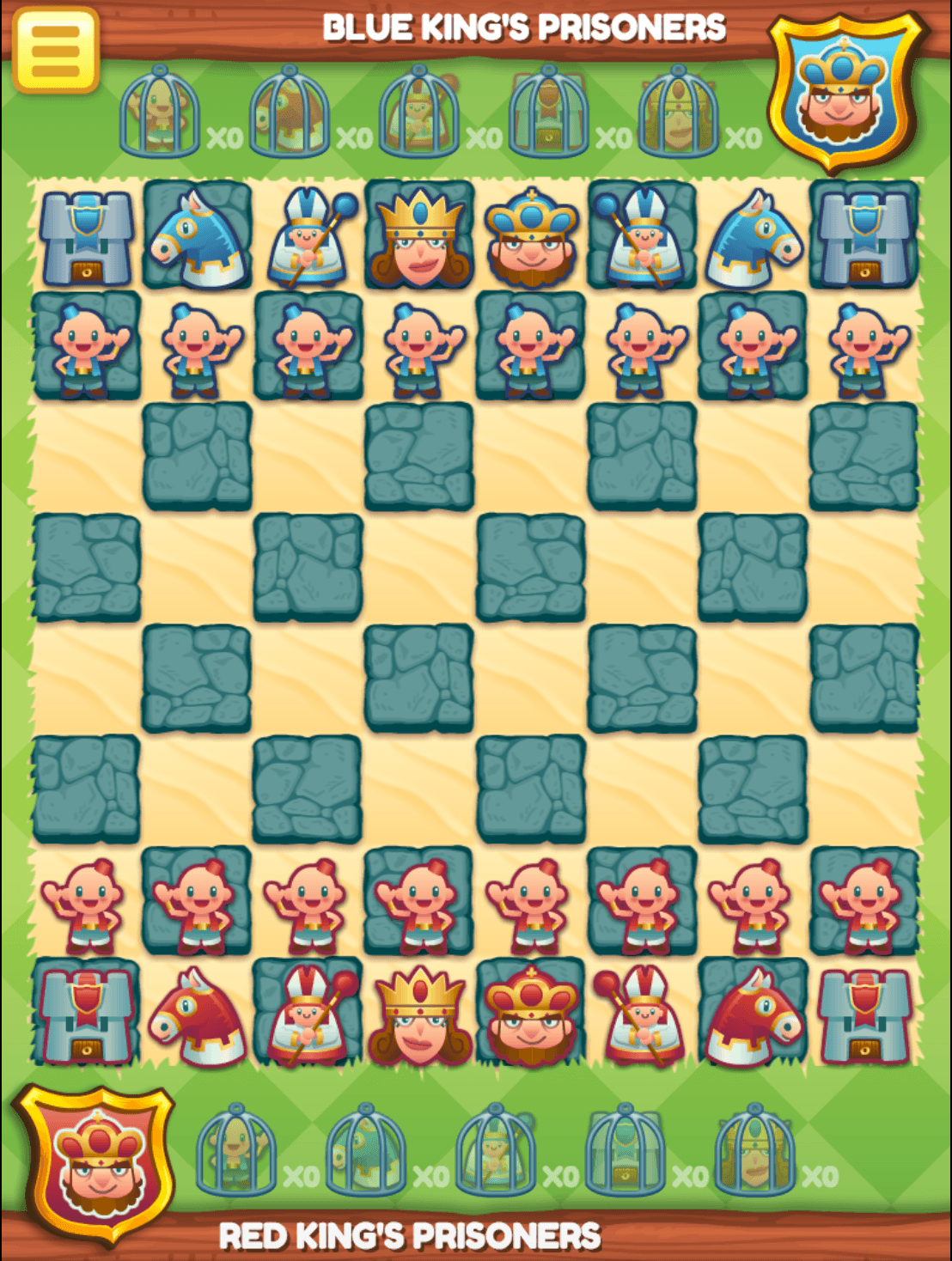 In Junior Chess you can play on a nice chess board and