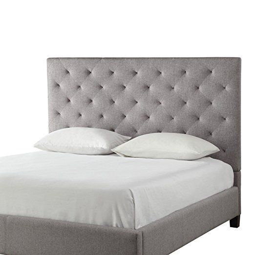 a156fa004b Amazon.com - Modern Diamond Gray Button Tufted Upholstered Padded Square  Queen Platform Bed with Headboard - Includes Modhaus Living Pen -