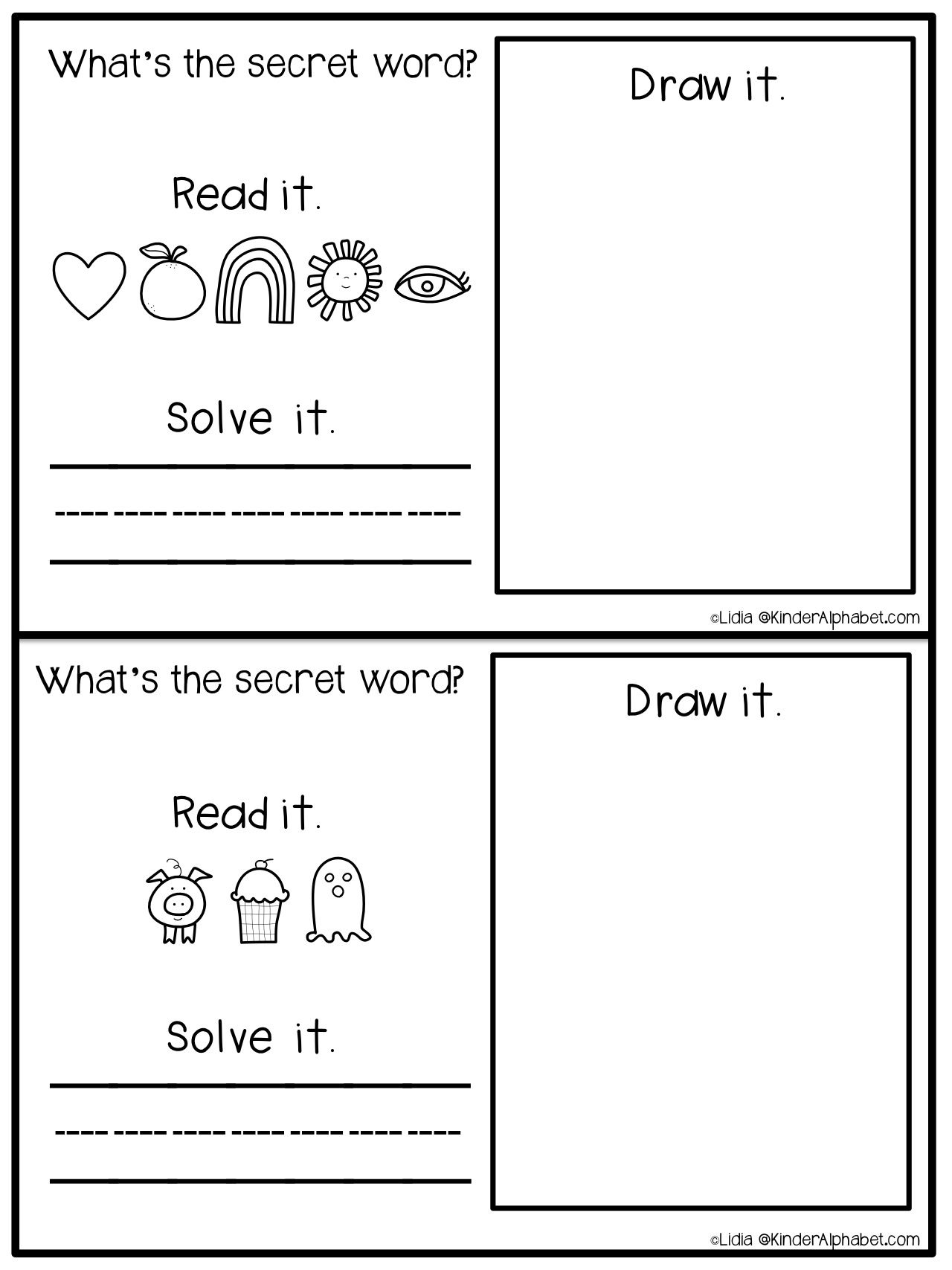 Free Fun Printables To Identify The Characters Of The Gingerbread Man Story