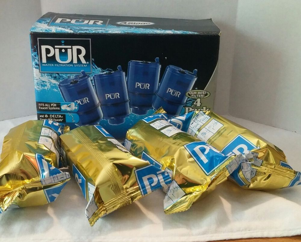 BOX OF 4 PUR 3-Stage Blue Faucet Mount Water Filters RF-9999 | Water ...