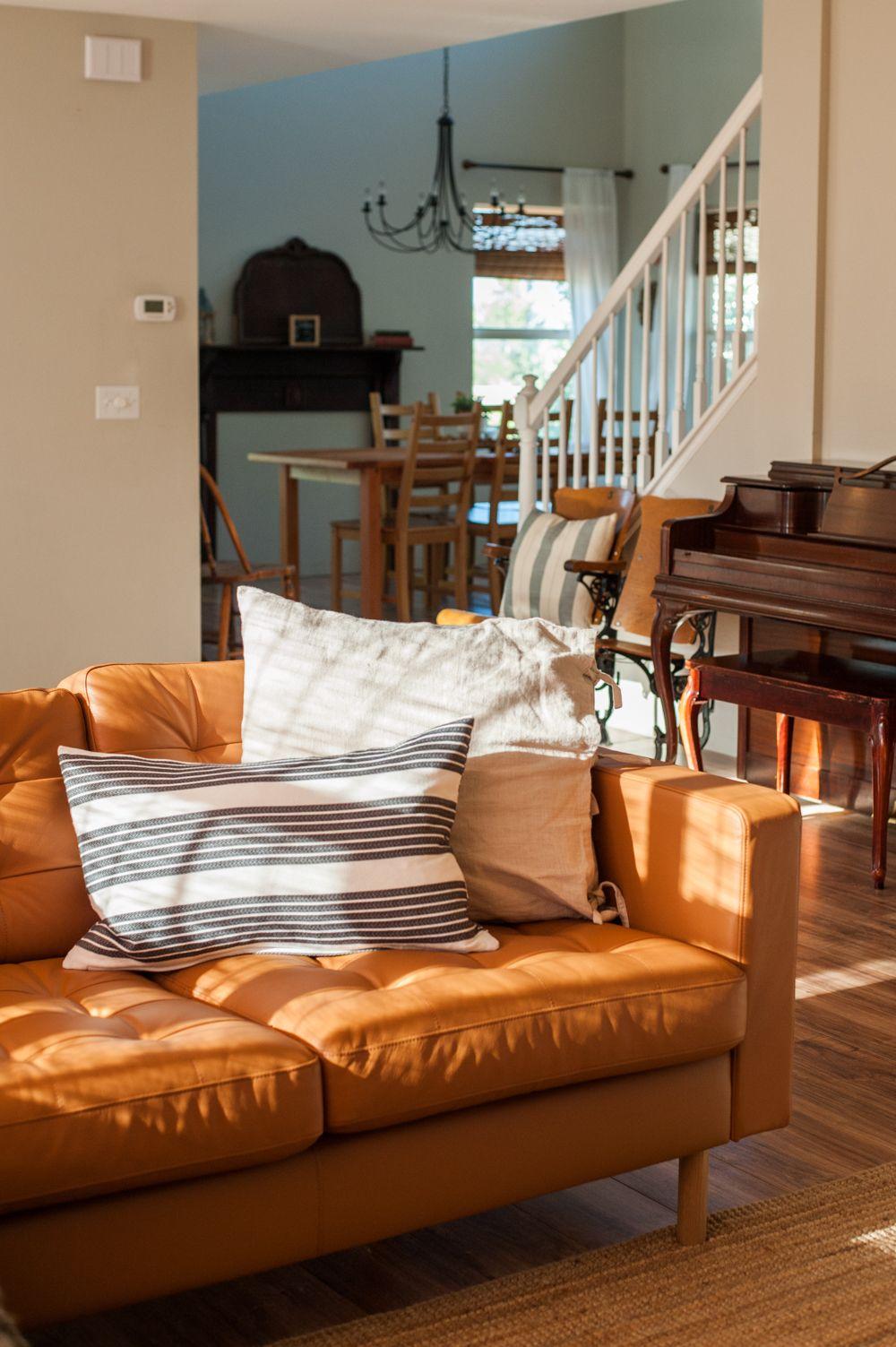 ikea leather sofa living room