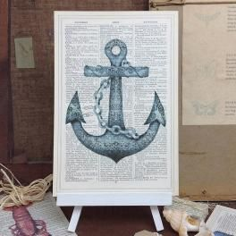 'anchor' vintage art print