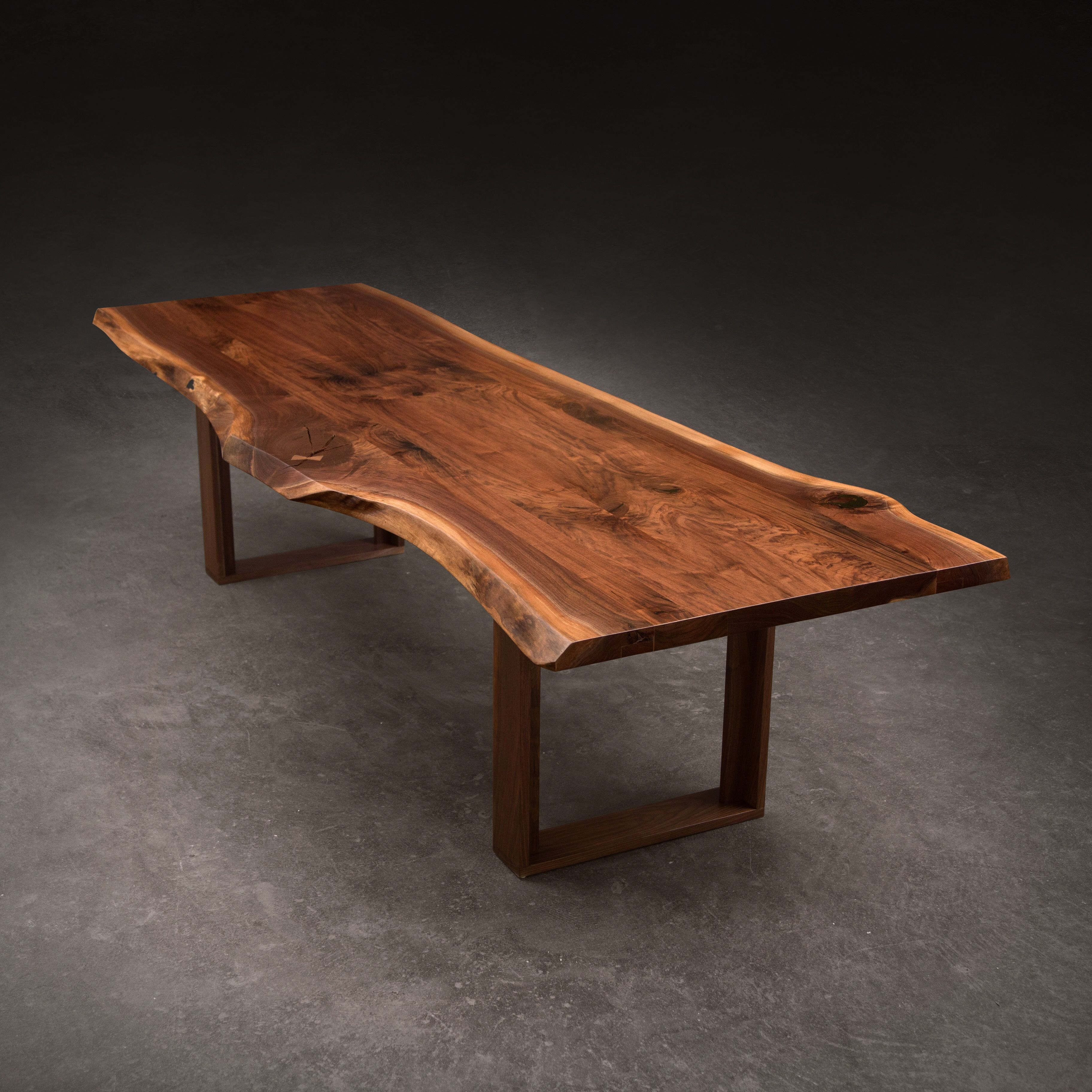 Live Edge Tables With Solid Walnut Maple Oak Slabs