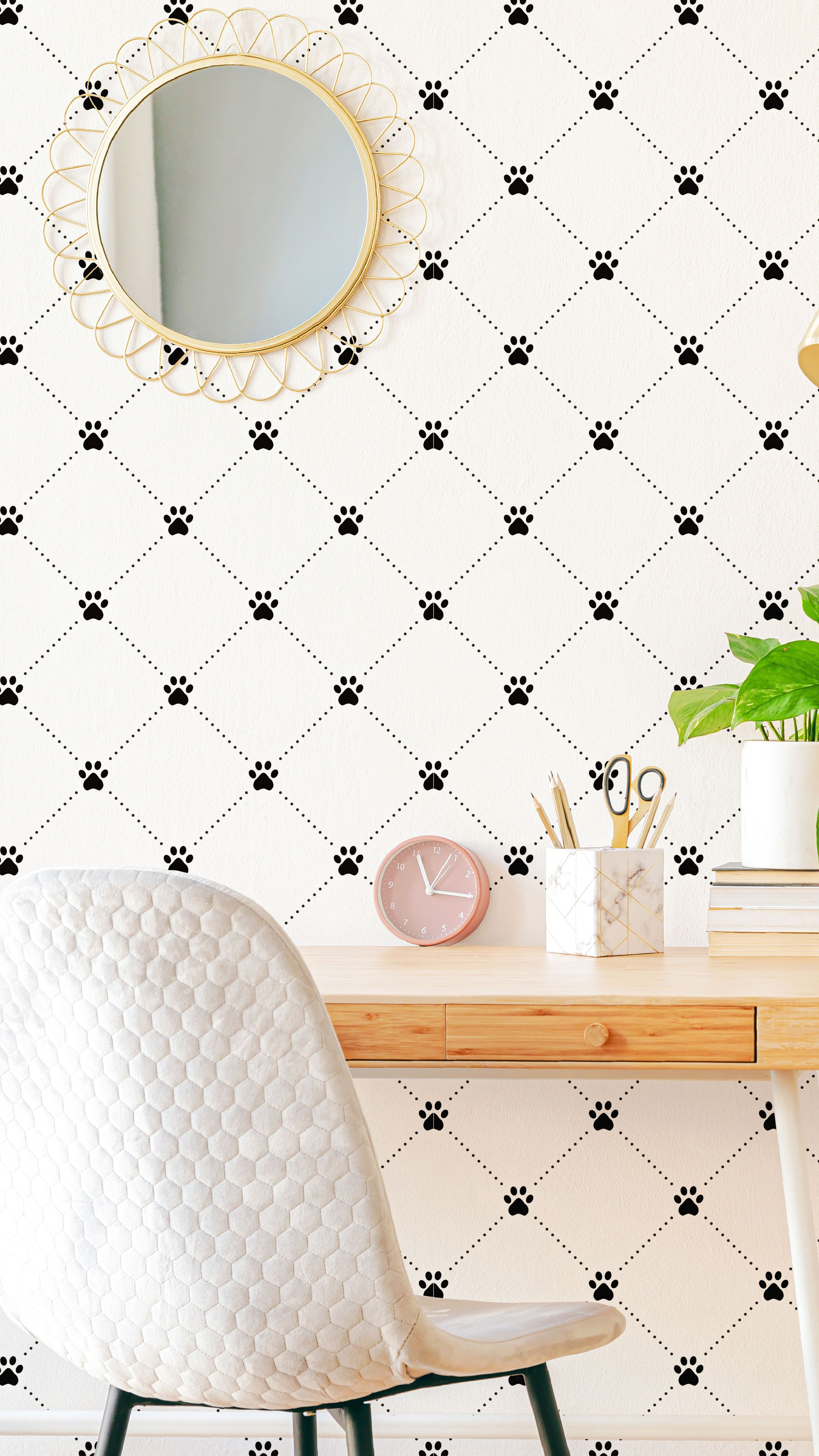 Black And White Dog Peel And Stick Removable Wallpaper 7337 Removable Wallpaper Peel And Stick Wallpaper Black And White Wallpaper