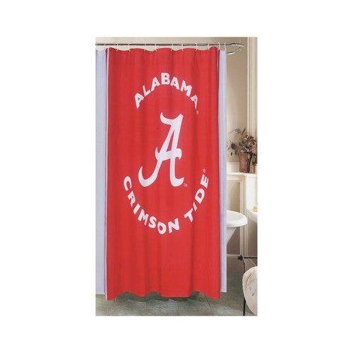 Image Detail For Amazon Com Alabama Shower Curtain Home Kitchen Bama Bathroom Stuff Fabric Shower Curtains Curtains Alabama Crimson Tide Alabama crimson tide bathroom decor