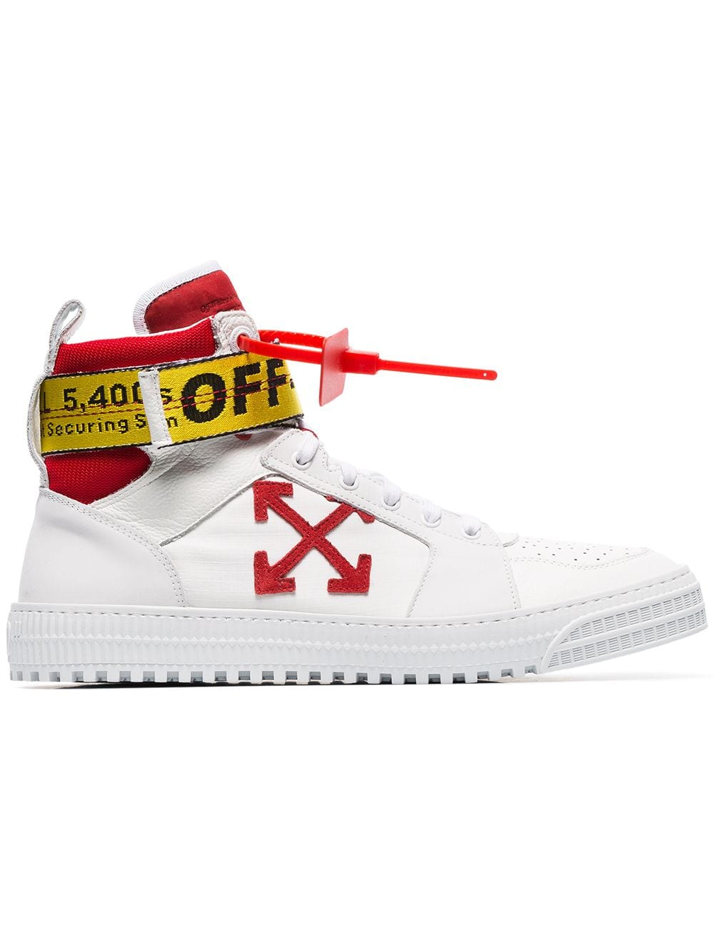 White Hi Top Belted Sneakers - Farfetch