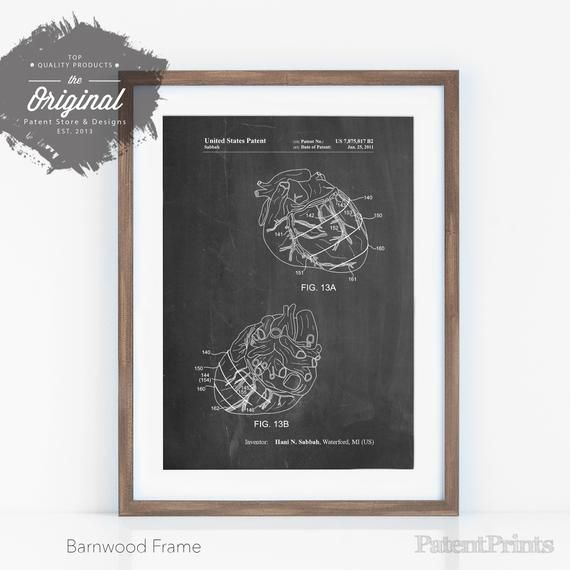 Anatomical Heart Poster, Heart Surgery, Doctor Office Decor, Cardiologist, Medical Wall Art, PP0702 #doctoroffice