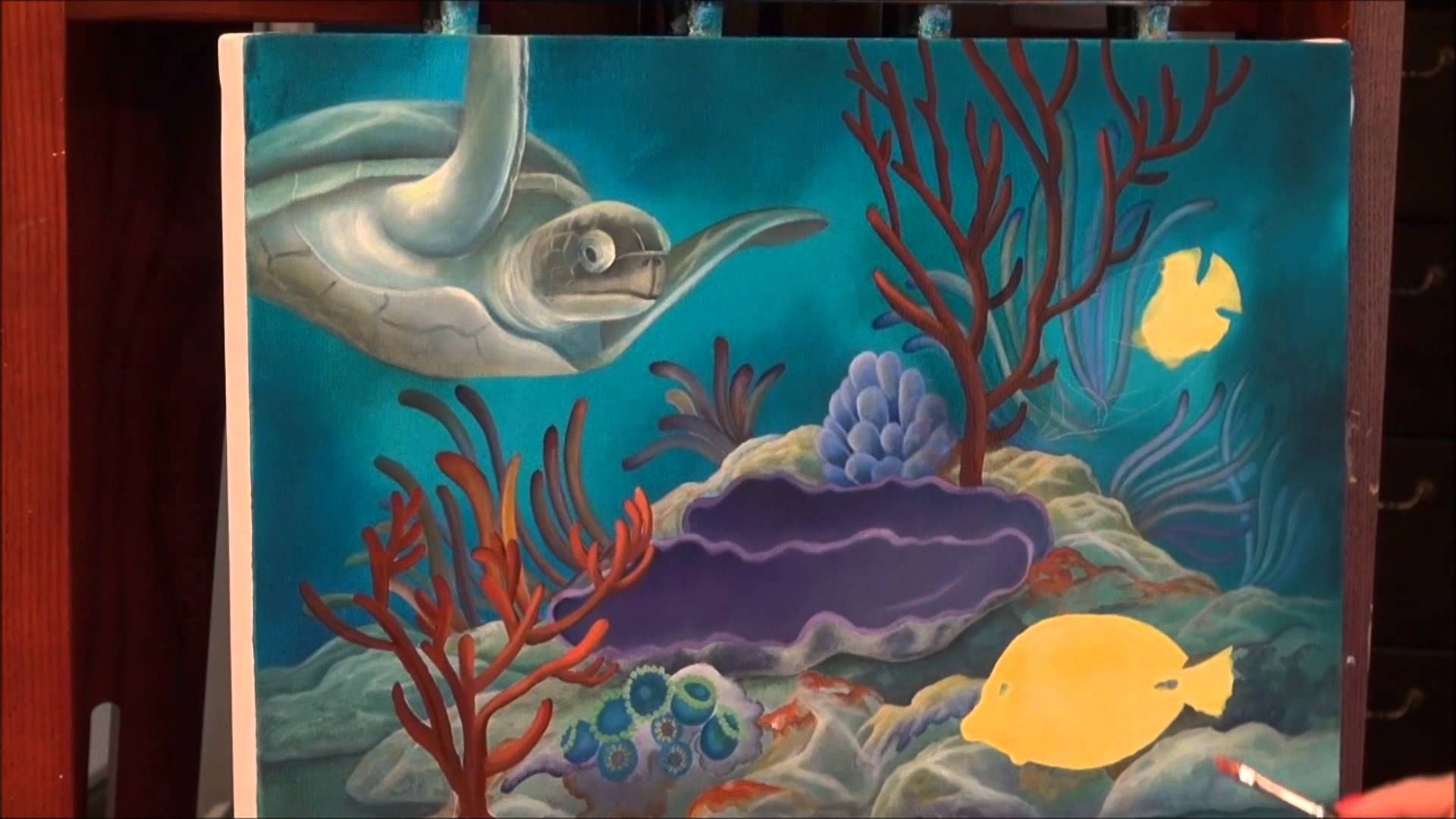 Acrylic Painting  How To Paint Tropical Reef
