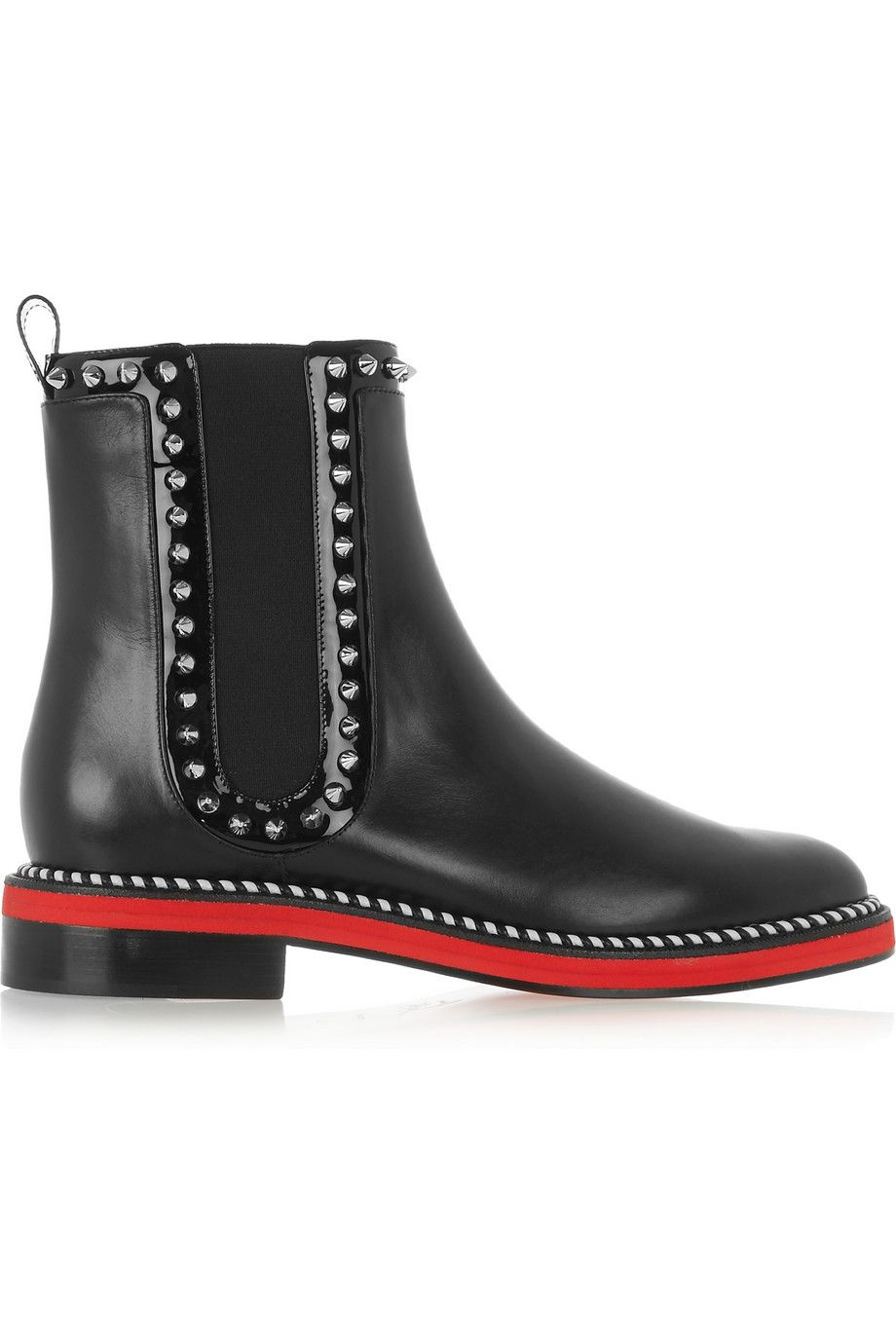 Christian Louboutin - Bottines chelsea en cuir cloutées Notting Hill ... bb98483aadf