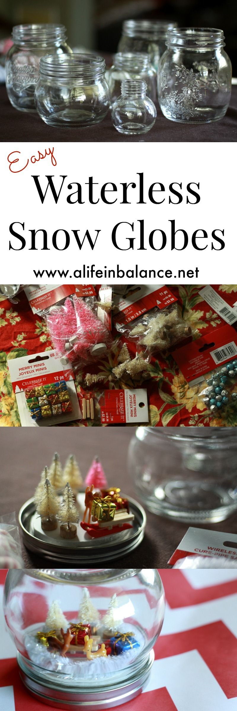 Easy Waterless Snow Globes for Kids Snow globe for kids