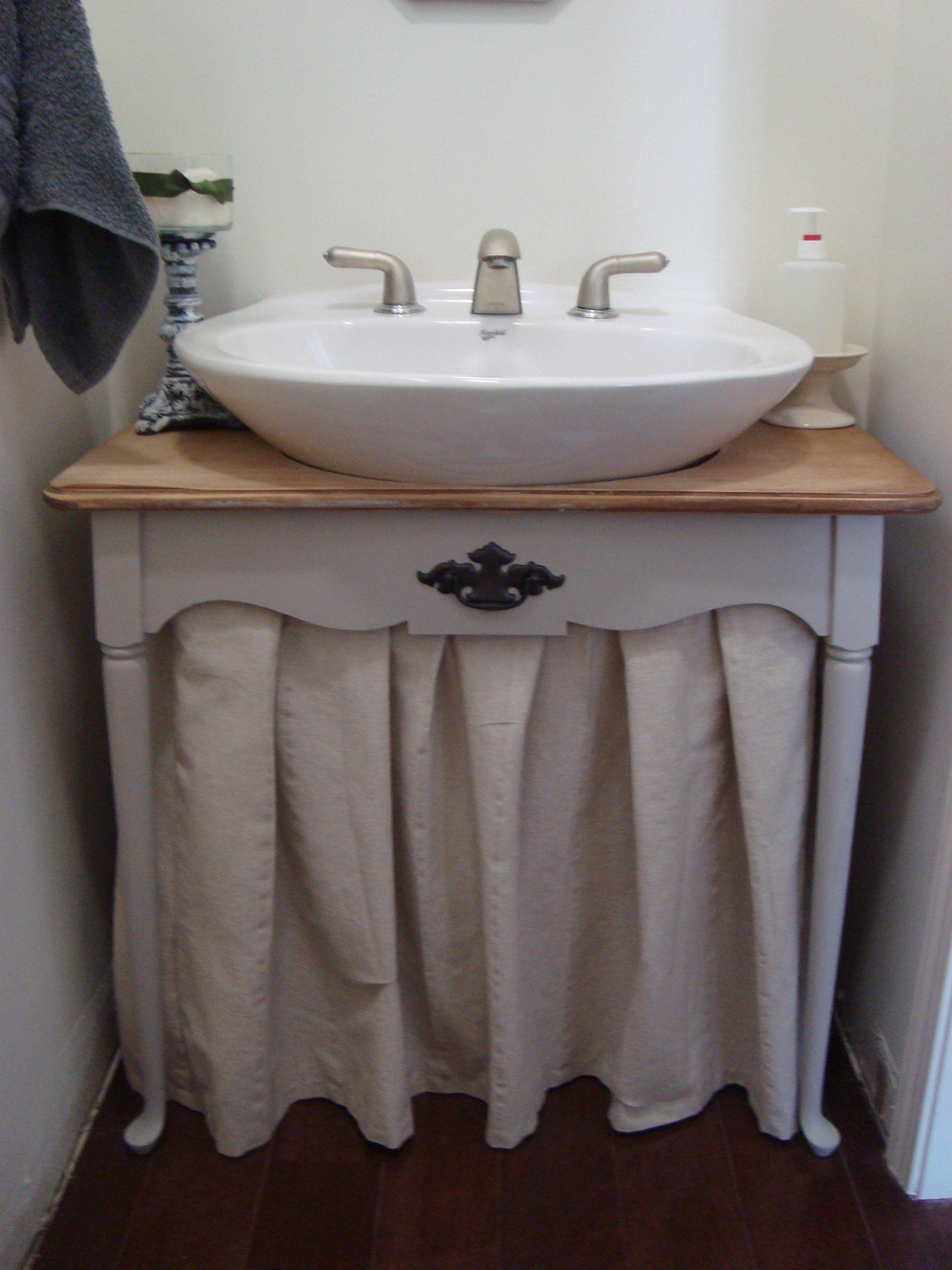 Bathroom Pedestal Sink Skirt