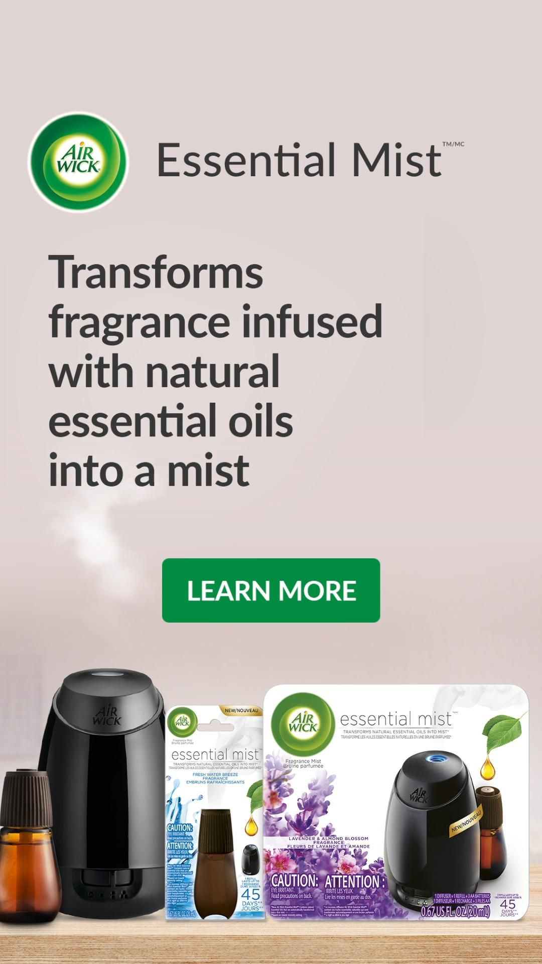 Air Wick® Essential Mist - Elevate your Family Tim