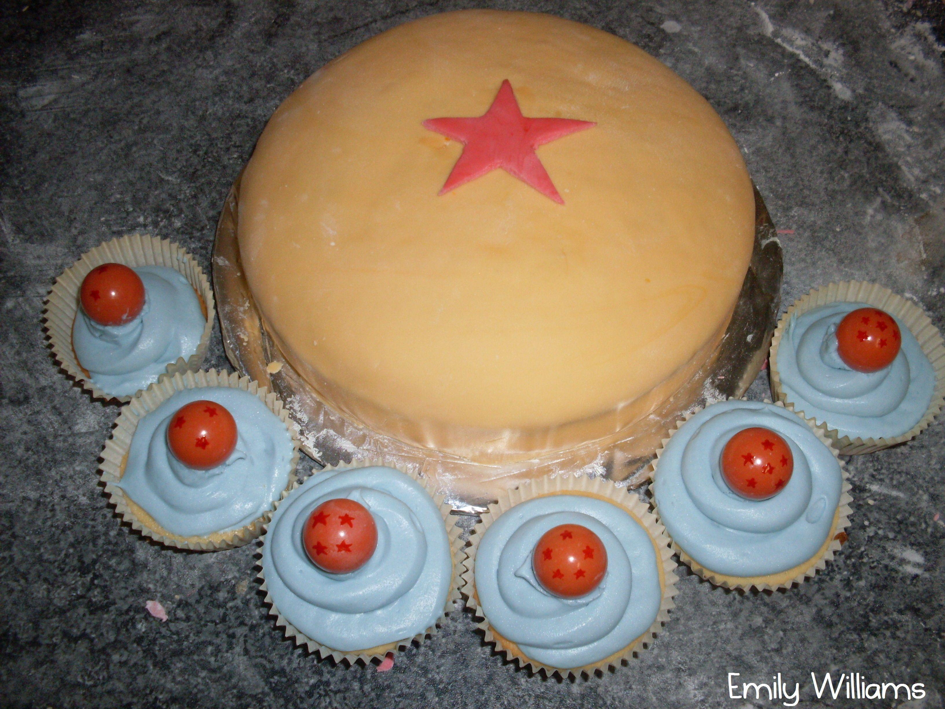My Dragon Ball Z Dbz Birthday Cake And Cupcakes Recipes