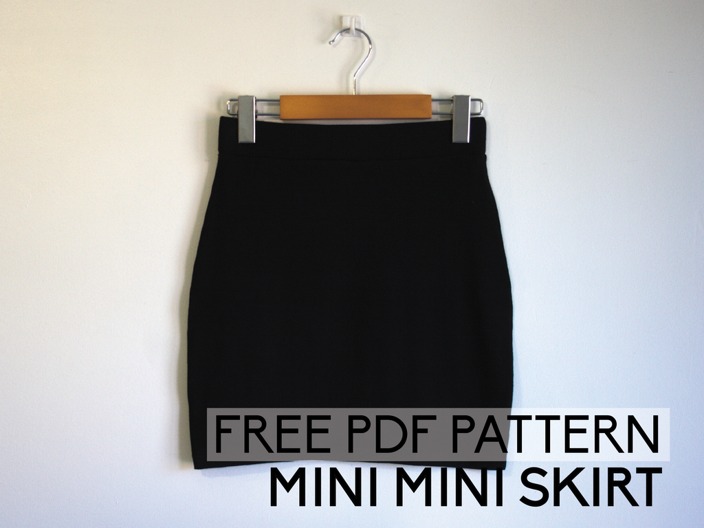 Free PDF pattern - Mini mini skirt | Damen FREE Tutorials ...