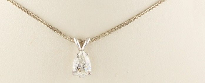white pendant pendants diamond shaped gold pear solitaire