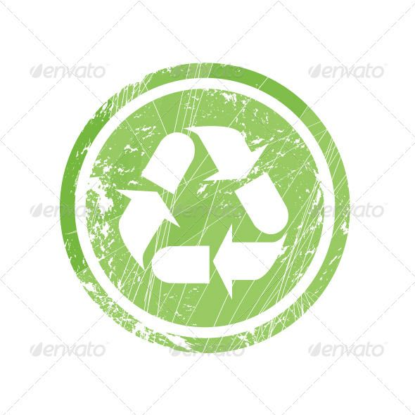Recycling Symbol For Stamp And Labels Symbols Filing And Fonts