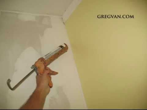 Caulking As an Alternative Method for Finishing Drywall Corners - YouTube