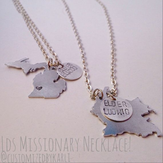 LDS missionary mom/ missionary girlfriend necklace!! Adorable!