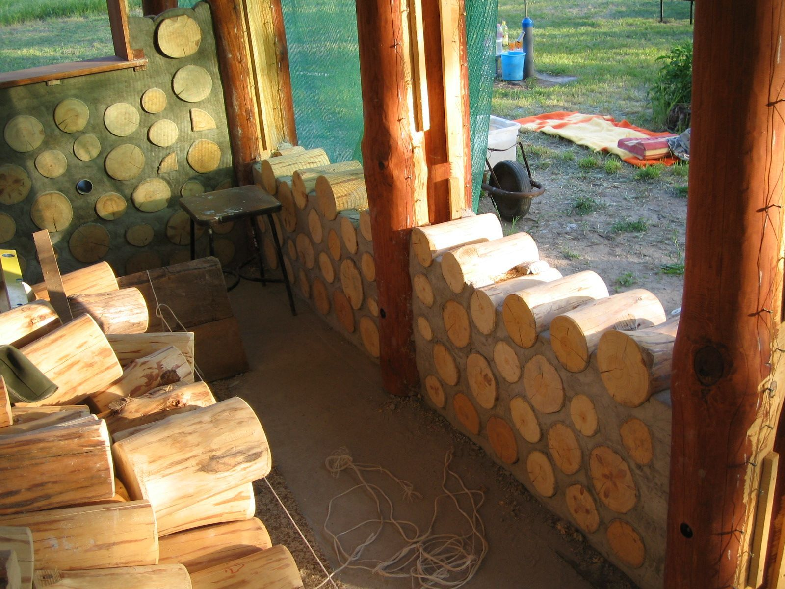 Cordwood Cabin | Hungarian Cordwood By Tamas Abel | Cordwood Construction