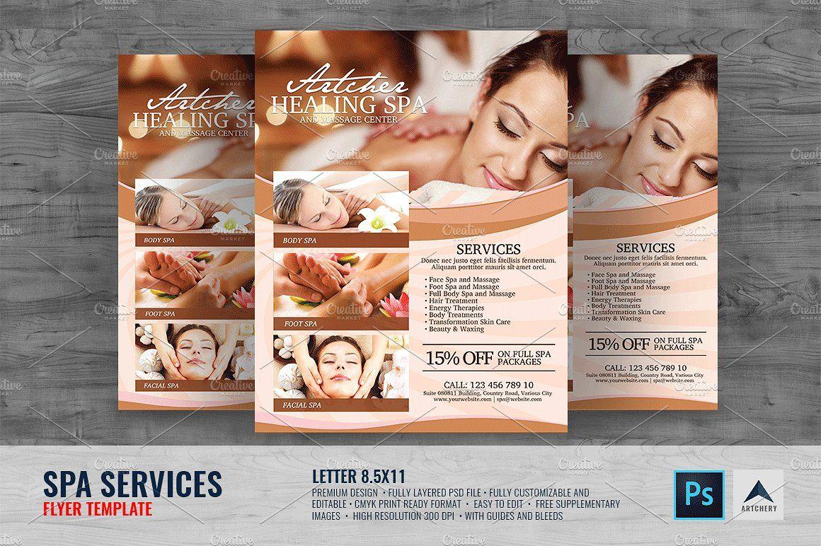 Spa Services Flyer Flyer, Spa services, Flyer design