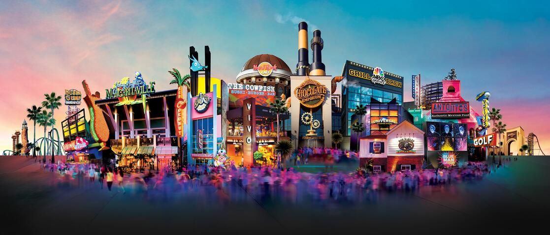 At universals citywalk in orlando you can enjoy fun and