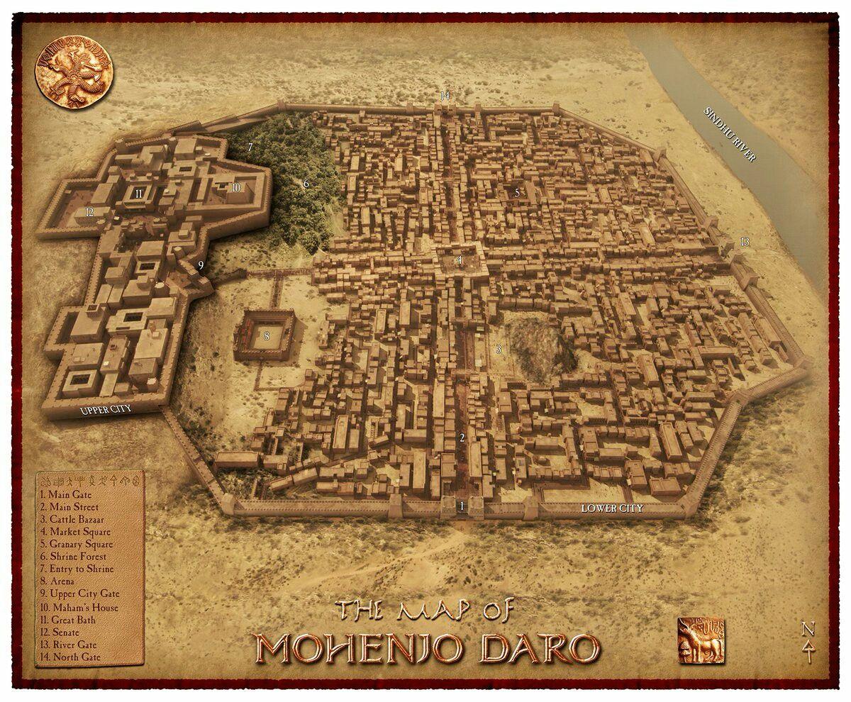 Mohenjo Daro Ancient Indus Civilization 2500 BC DampD Map