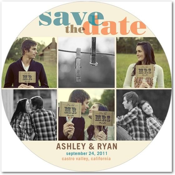This is just a circular save the date card, but what if there was a collaborative invitation mix inside and this was just the CD cover? Ideas.