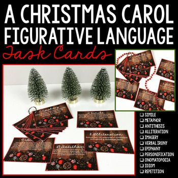 A Christmas Carol Figurative Language Task Cards