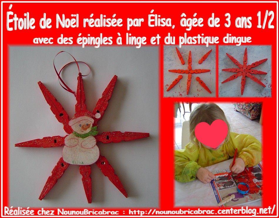 Image du blog bricolage petit no l pinterest no l enfants - Deco de noel en pince a linge ...