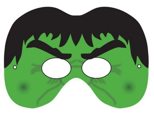 Hulk superhero symbol hulk mask arts crafts for Avengers mask template