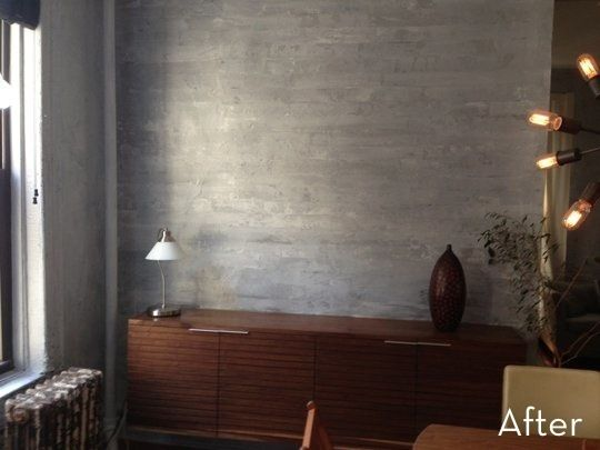How To Paint A Faux Concrete Wall That Looks Like The Real Thing Concrete Walls Diy Faux Walls Faux Concrete Wall
