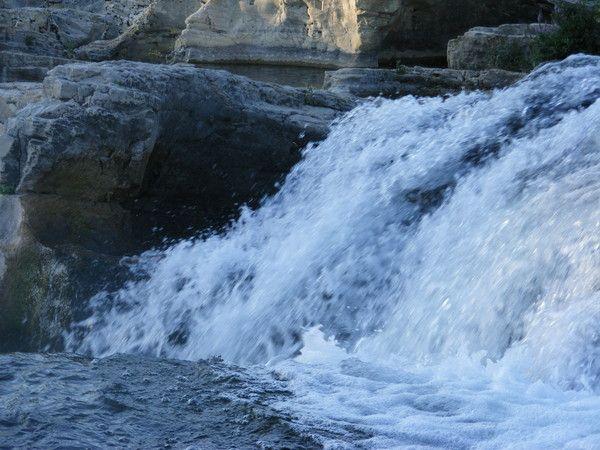 Les cascades du Sautadet.Gard. Languedoc-Roussillon