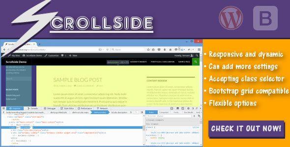 scrollside wordpress scrolling sidebar code script pinterest