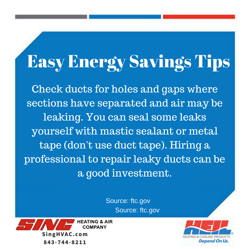 SingHVAC EnergyTips Energy saving tips, Seal leaks