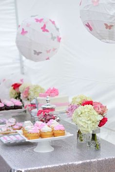 Garden chic christening party! See more party ideas at CatchMyParty.com!
