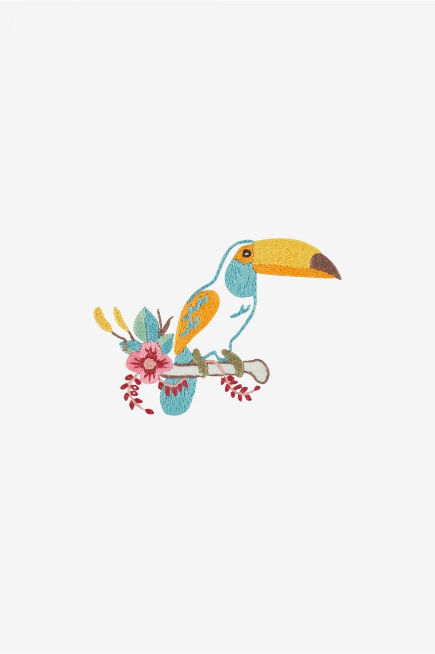 Toucan embroidery pattern from DMC | Embroidery | Pinterest | Bordado