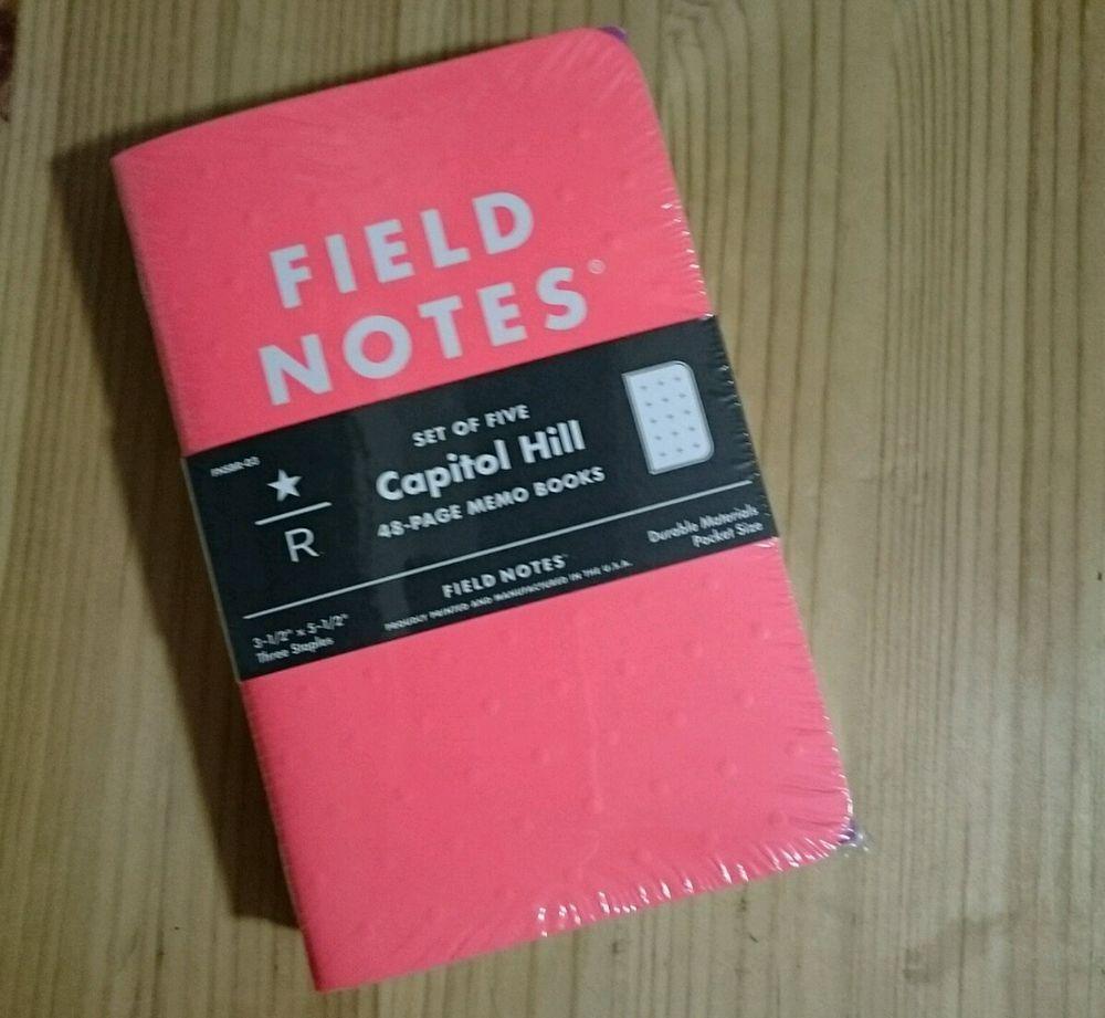 Field notes starbucks reserve capitol hill memo books set of 5 ...