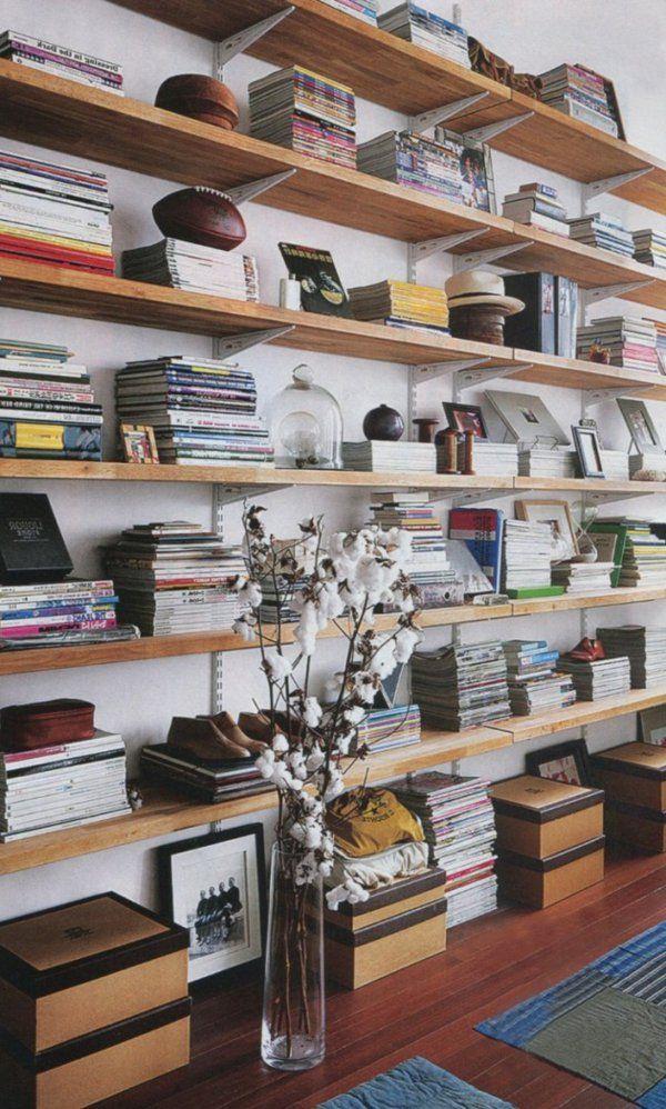 buecherregal design ideen, 30 ideen für fabelhafte bücherregale | interiors, room and living rooms, Design ideen