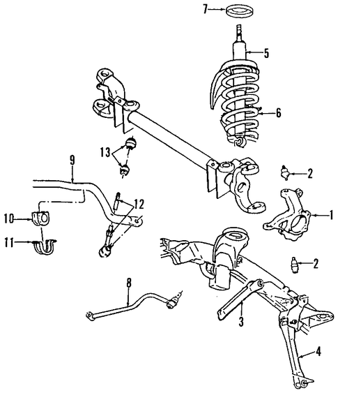 FRONT SUSPENSION/SUSPENSION COMPONENTS for 2000 Dodge Ram