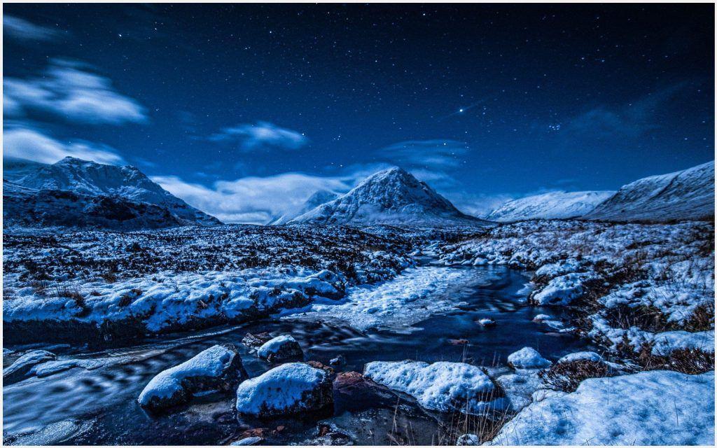 Winter Night Sky Stars Hd Wallpaper Winter Night Sky Stars Hd