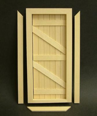 English Ledge & Brace Cottage Door - 1:12 scale from Bromley Craft Products Ltd.