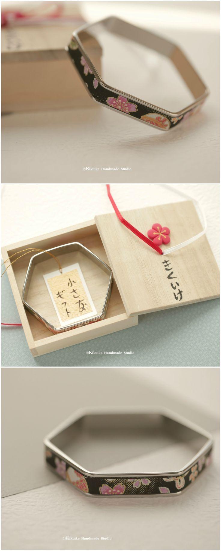 Handmade Japanese chiyogami Bracelet,hand wrapped chiyogami paper ...