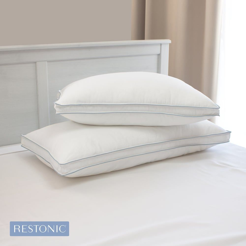 Restonic Tempagel 2 Pack Max Cooling Pillow With Cooling Gel Beads